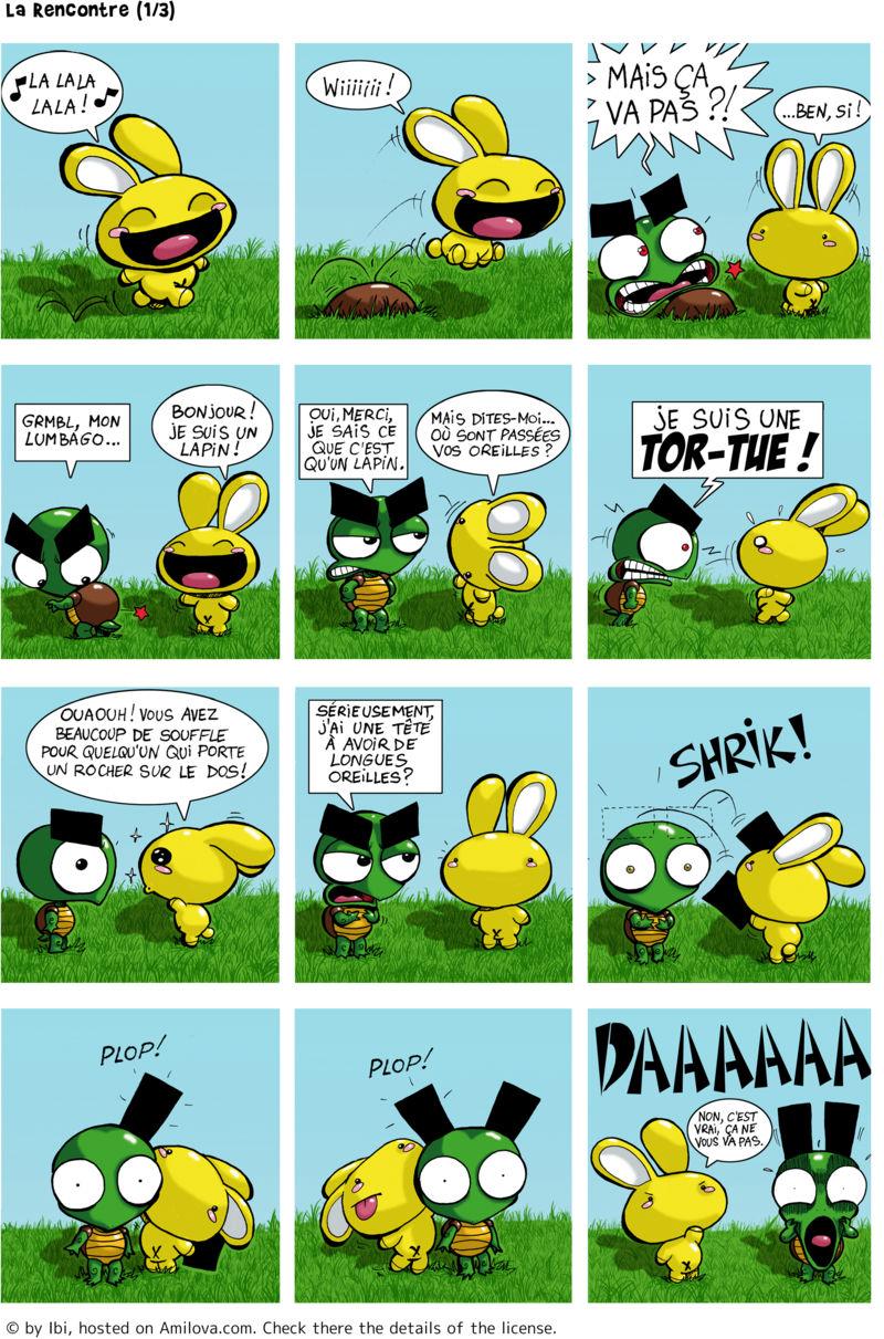 Lapin et tortue humour bd en lecture gratuite ch 1 p 1 - Caricature gratuite en ligne ...