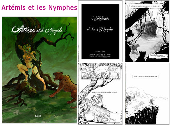 Lire et découvrir Artémis et les Nymphes sur Amilova