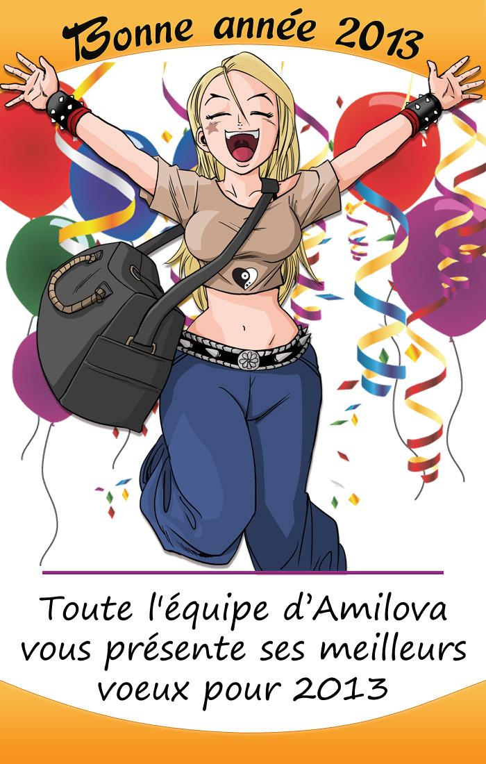 bonne nouvelle année avec Amilova